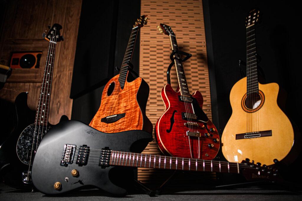 Guitars and bass